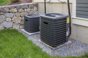 Air Conditioning units outside of a home