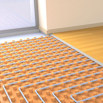 Hydronic Heat from Floor